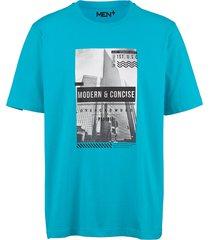 t-shirt men plus turquoise