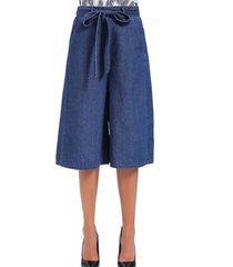 pantalón culotte denim azul nicopoly