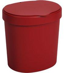 lixeira basic com tampa 2,5 litros 17,5x15x18,2cm vermelho bold - 10906/0465 - coza - coza