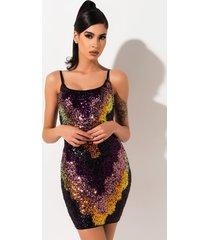 akira around the world sequin mini dress