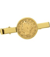 american coin treasures gold-layered liberty nickel coin tie clip