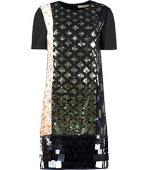tory burch color-block sequin dress