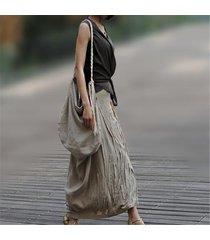 2017 fashion flax manual women single shoulder bag casual khaki lady woven bag i