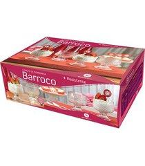 jogo de taças wheaton barroco sobremesa com 6 peças