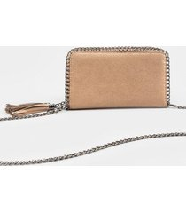 lyndsey chain link continental wallet - taupe