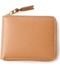 comme des garçons wallet textured zip around wallet - neutrals