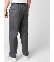 maison margiela men's wool flannel trousers - grey melange - it 48/m