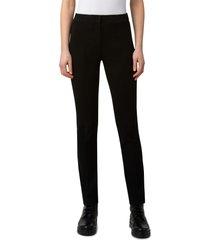 women's akris punto stretch jersey pants, size 14 - black