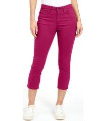 charter club petite tummy-control bristol capri jeans, created for macy's