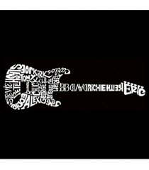 la pop art women's premium word art flowy tank top- rock guitar