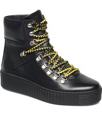 agda l shoes boots ankle boots ankle boots flat heel svart shoe the bear
