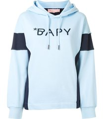 bapy by *a bathing ape® contrast-panel logo hoodie - white