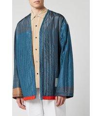 oamc men's serra liner jacket - charcoal blue - m