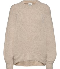 milffa knit o-neck gebreide trui beige second female