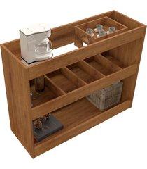 aparador bar 4030 luxo caramelo madeirado móveis jb bechara