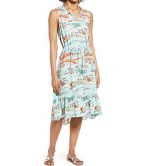 beachlunchlounge lou lou belted sleeveless shift dress, size large in coney island at nordstrom