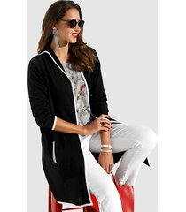 vest miamoda zwart::wit