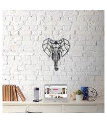 escultura de parede a laser elefante único