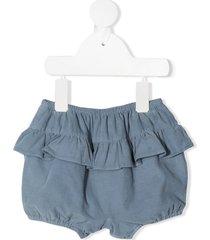 knot haruka ruffled bloomer shorts - blue
