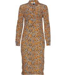 luigi dress jurk knielengte oranje nué notes