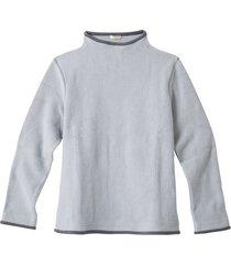 fleece pullover van bio-katoen met vulkaankraag, grijs/antraciet xl