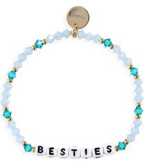 women's little words project besties beaded stretch bracelet