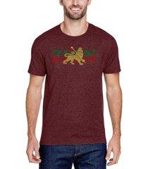 men's premium blend word art zion-one love t-shirt