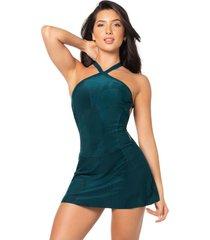 vestido poliéster talla única-23 azul petroleo 94613