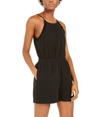 inc cotton halter-neck romper, created for macy's