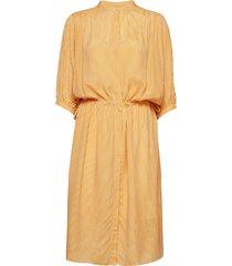 sharon ss dress jurk knielengte geel second female