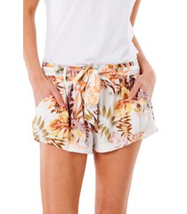 rip curl tallows tropical shorts, size x-large in white at nordstrom