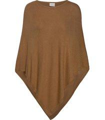 vibolonia o-neck knit poncho/2 poncho regnkläder brun vila
