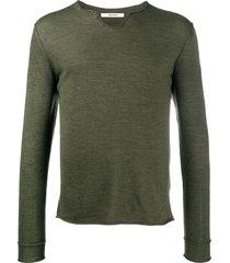 zadig & voltaire monastir henley-neck sweater - green
