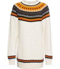 maglione lungo oversize (beige) - rainbow