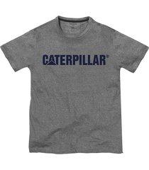 camiseta hombre slim fit caterpillar logo gris cat