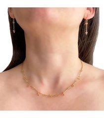 collar delicado cristal ámbar