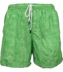 lawn green men's boxer swimsuit