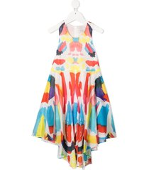 flared multicolor jersey dress