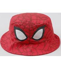 chapéu infantil homem aranha estampado vermelho