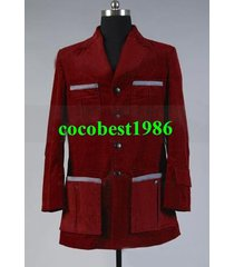 who is doctor dr. dark red corduroy trench coat costume any size