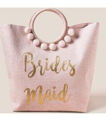 bridesmaid circle handle tote - blush