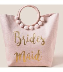 bridesmaid circle handle tote - blush
