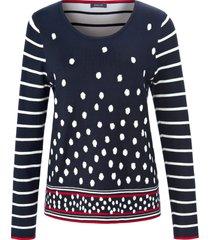 trui met lange mouwen van basler blauw