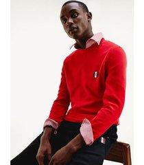 jersey essential con monograma rojo tommy hilfiger