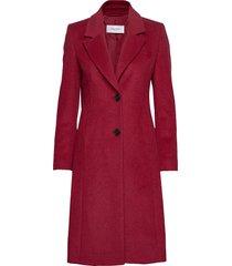 coat wool wollen jas lange jas rood gerry weber
