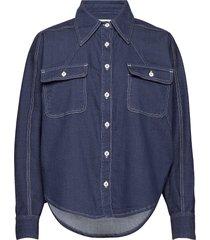alina shirt overhemd met lange mouwen blauw blanche