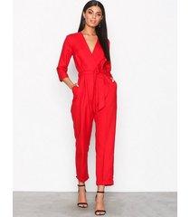 closet crossover jumpsuit jumpsuits red