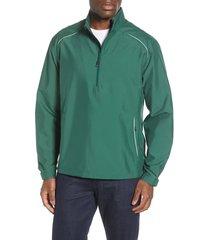 men's big & tall cutter & buck 'weathertec beacon' water resistant half zip jacket, size 4xb - green