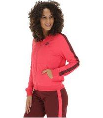 agasalho nike sportswear track suit - feminino - vermelho