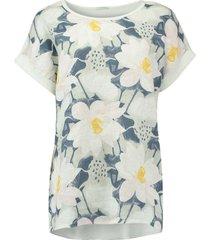 t-shirt summer flower wit